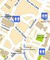Public toilets map